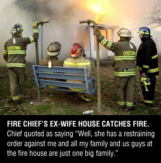 Fire chief revenge…