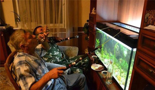 Extreme fishing: home edition…
