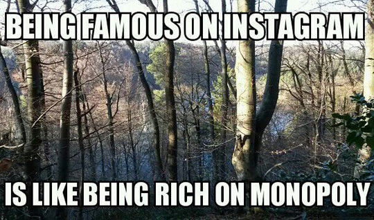 Being famous on Instagram…