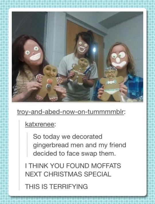Gingerbread face swap…