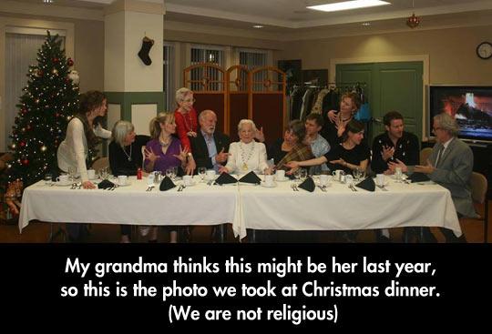 The last dinner with grandma…