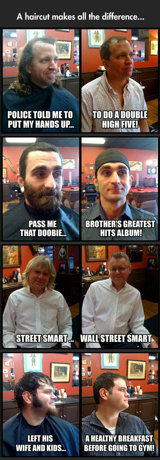 Haircuts change everything...