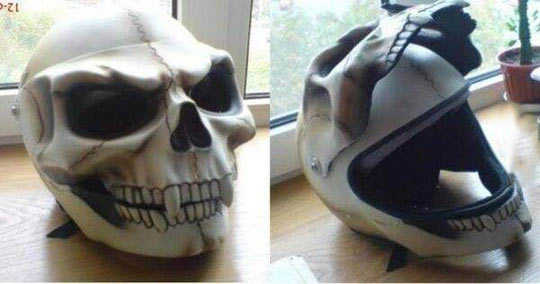 Skull helmet…