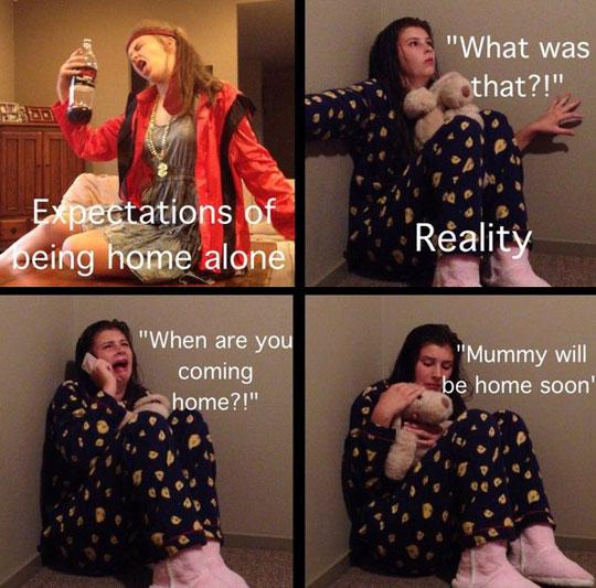 When home alone…