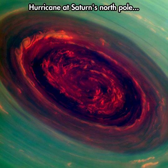 Incredible view of Saturn…