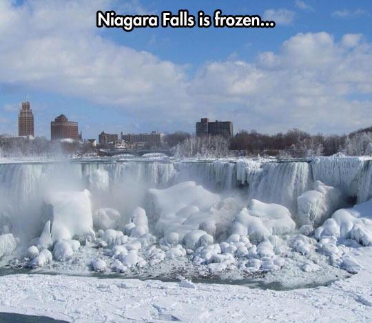 Frozen falls…