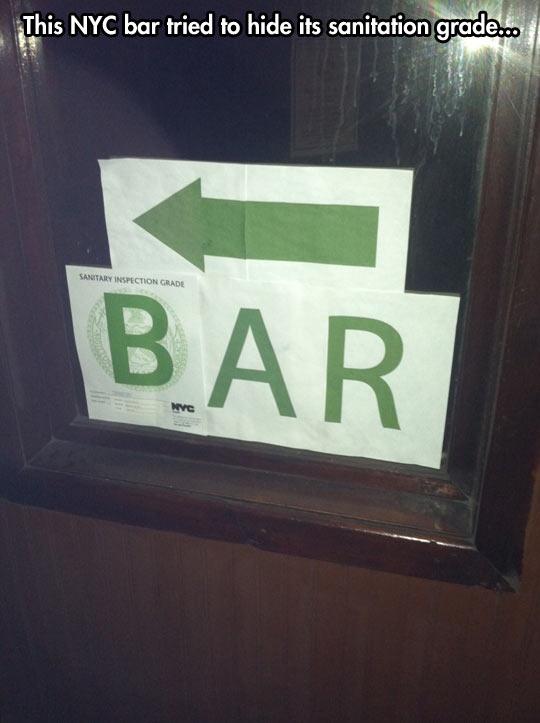funny-inspection-sanitary-grade-sign-arrow-bar