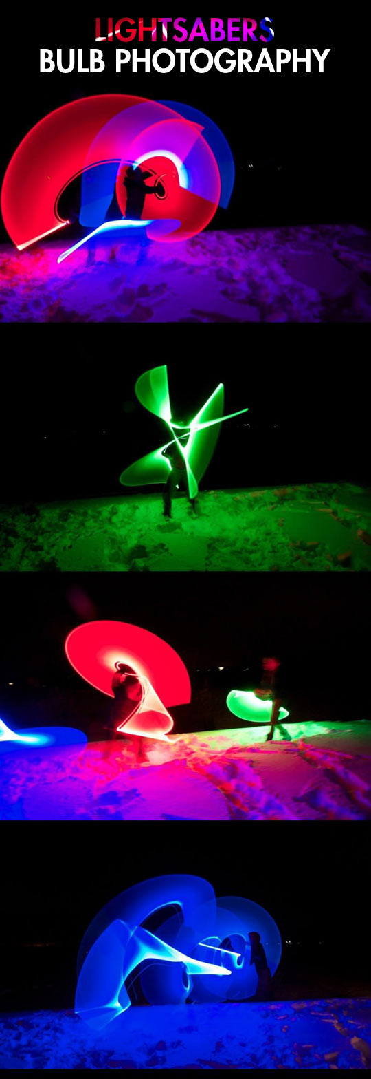 Light painting with lightsabers...