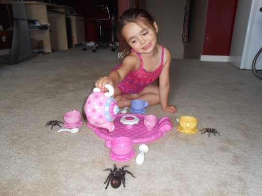 funny-little-girl-spider-playing