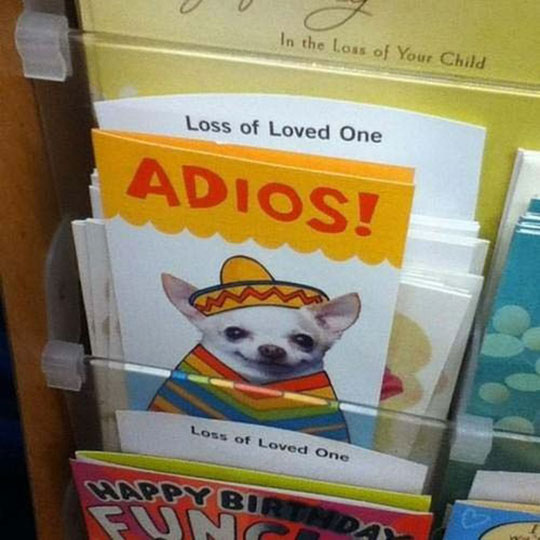 Loss of loved one card…