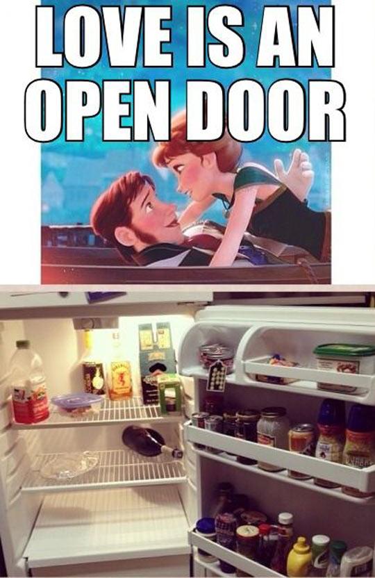Love is an open door…