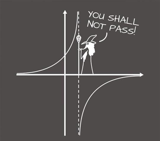 You shall not pass math…