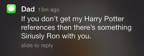 My Harry Potter references…