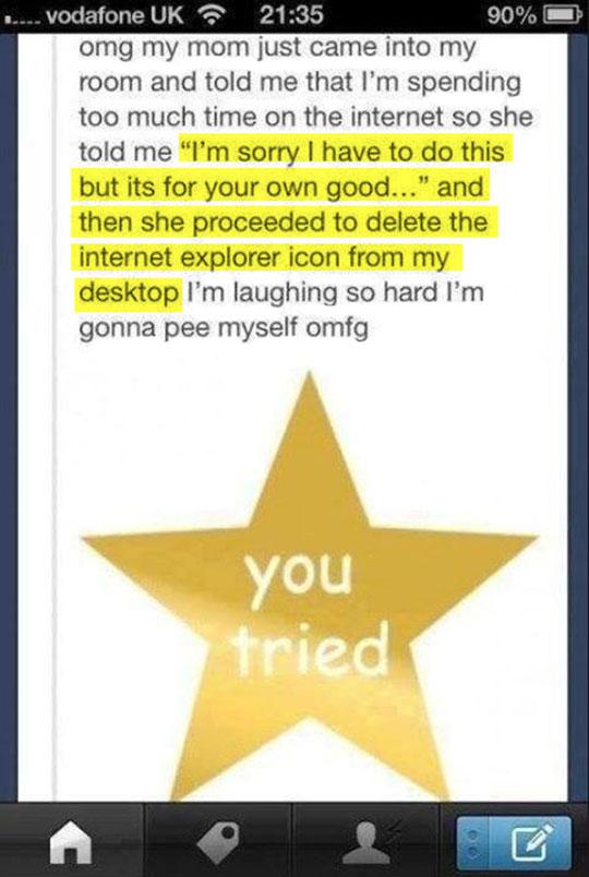No more internet…
