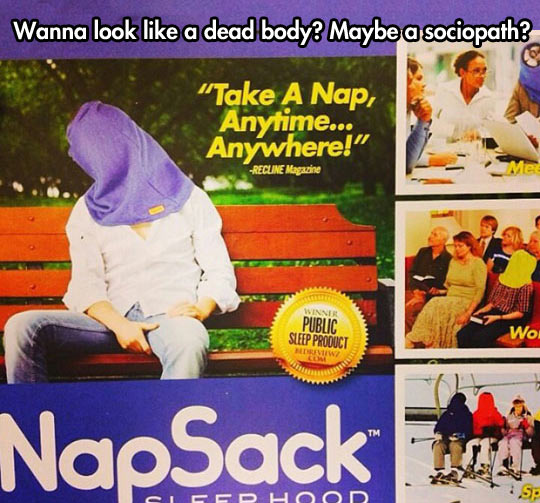 In case you want to look like a sociopath…