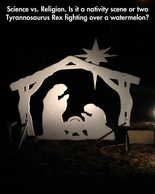 Nativity or Tyrannosaurus Rex…