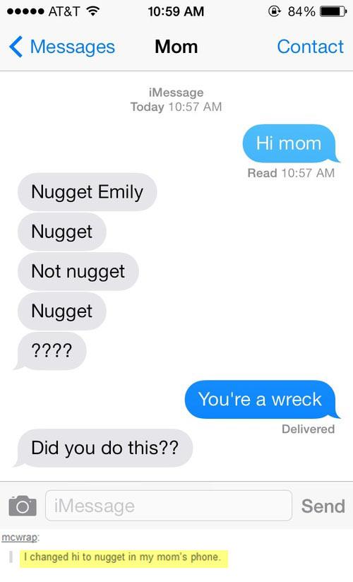 Hi, nugget…
