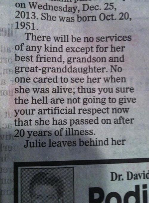 Badass obituary…
