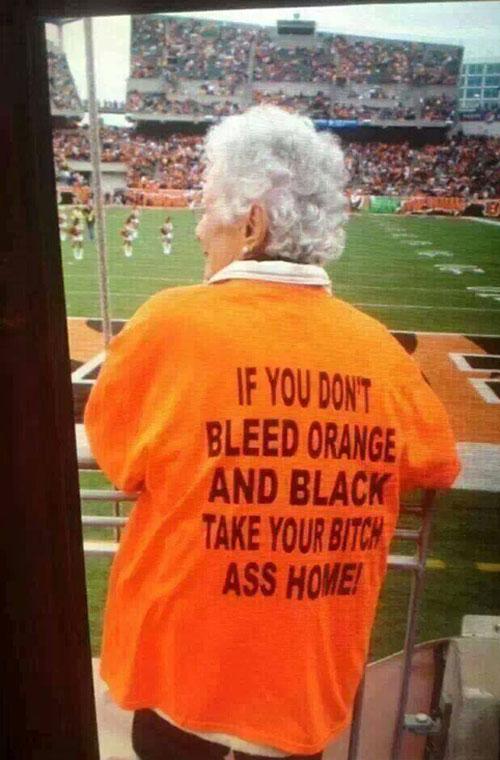 Fanatic grandma…