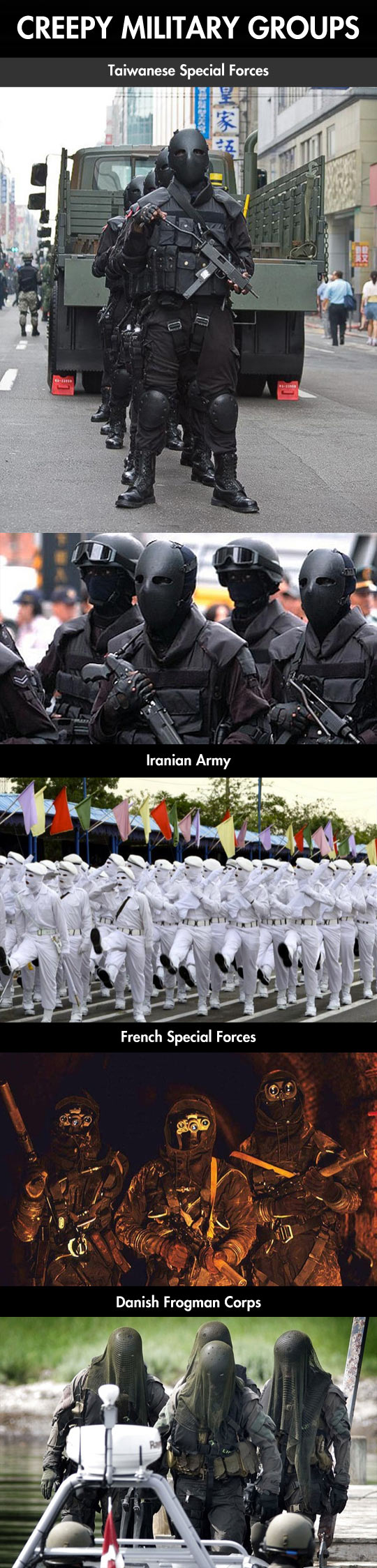 Creepiest military forces around the world…