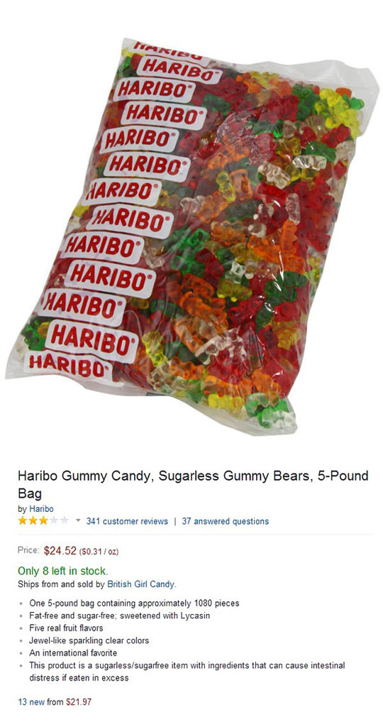 Hairbo gummy bears Amazon reviews have something in common...