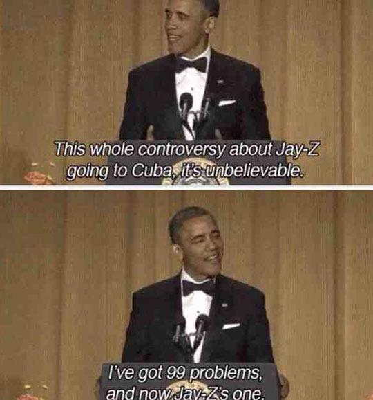 Our president, ladies and gentlemen…