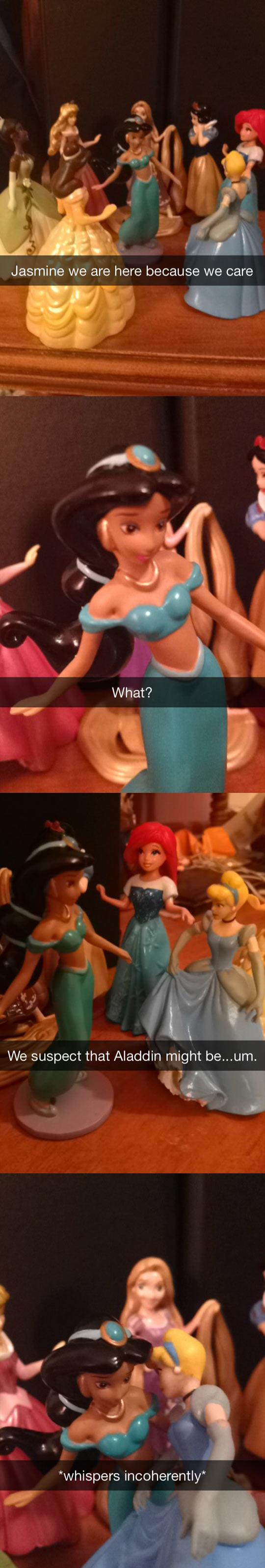 Disney princesses care...