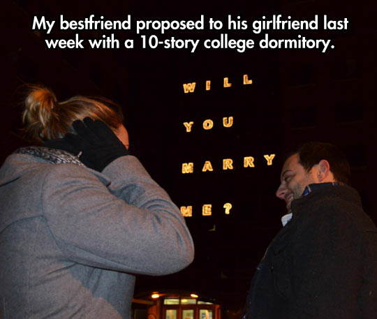 The coolest proposal…