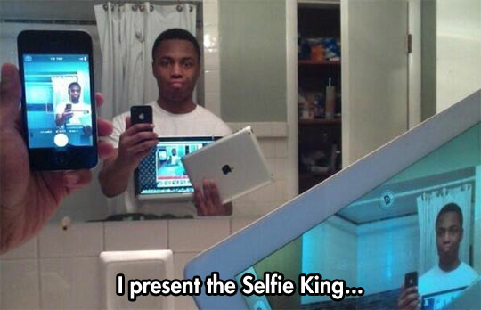 The best way to take a selfie…