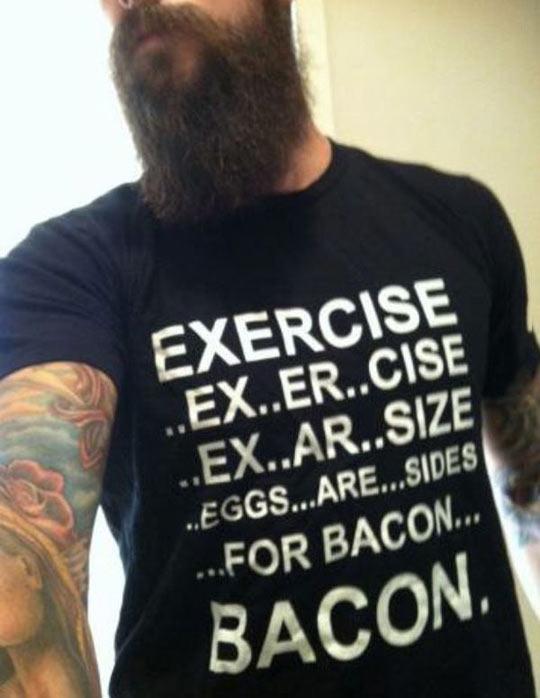 funny-shirt-exercise-bacon-eggs