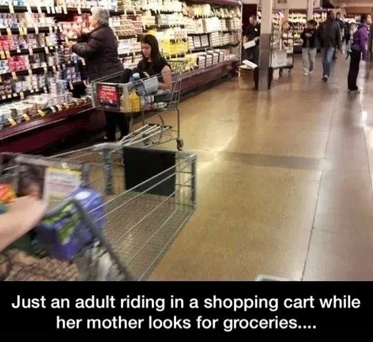 funny-shopping-cart-adult-woman