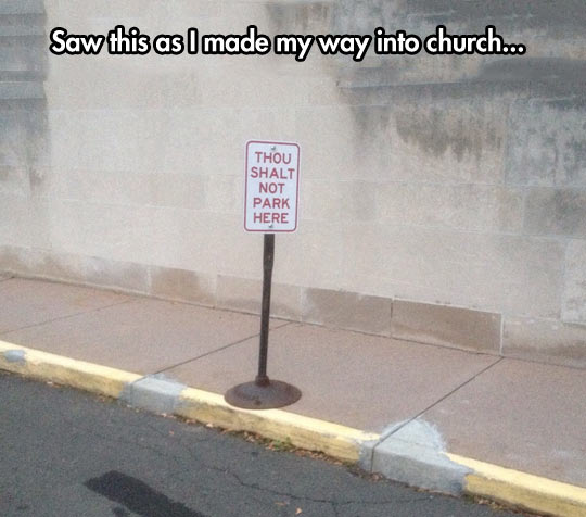 funny-sign-church-thou-parking