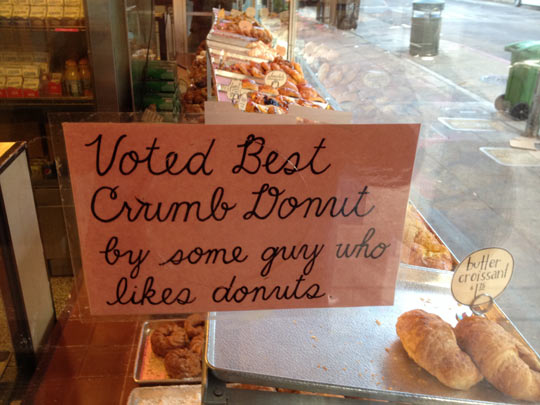 The best crumb donut…