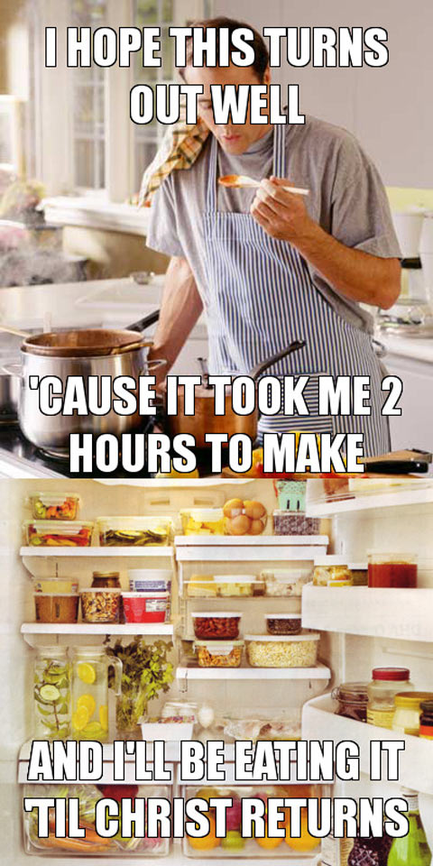 As a single guy, trying out a new recipe…