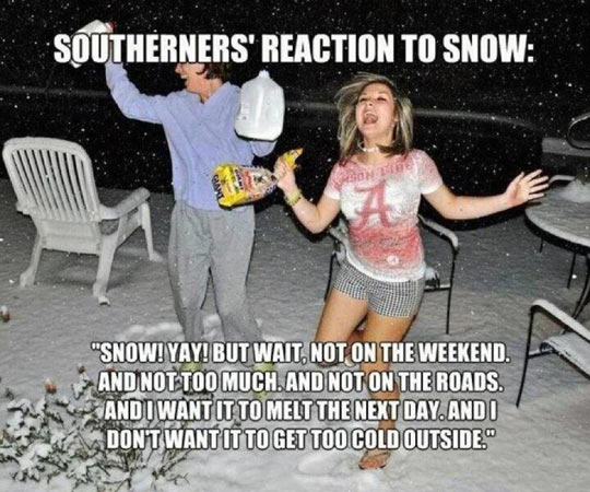 Snow in the South…