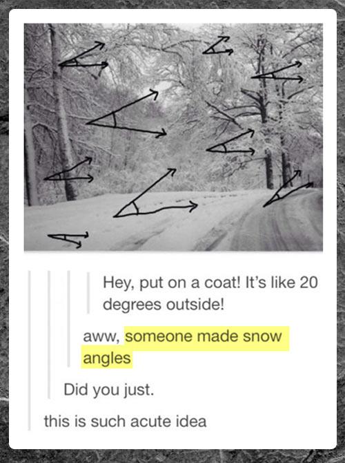 Someone made snow angles…
