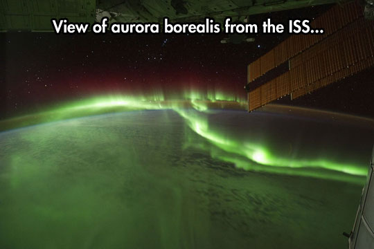 Northern Lights from space…