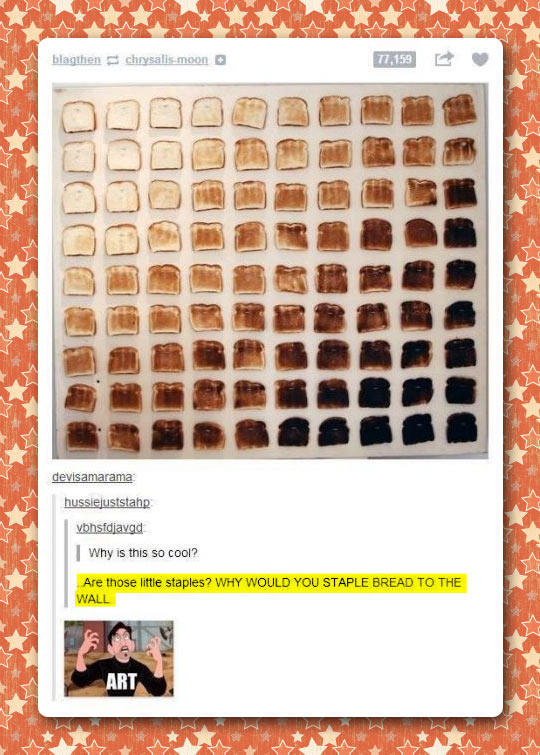 Bread gradient…