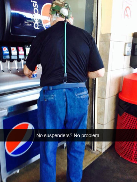 Who needs suspenders anyway?