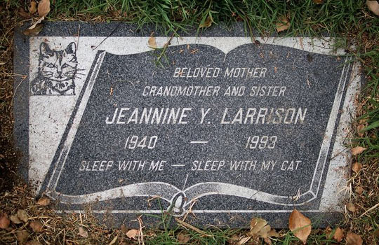 She died as she lived: as a crazy cat lady…