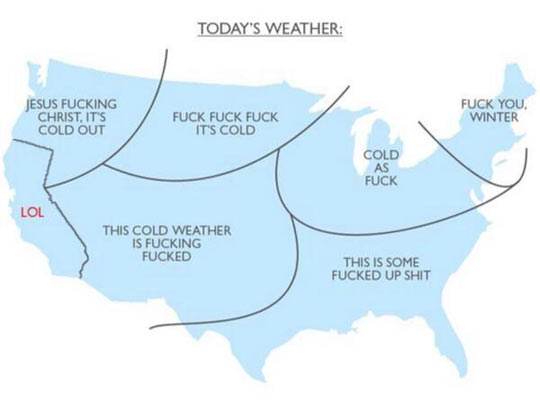 Today's weather…