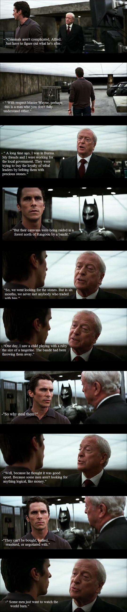 Alfred in The Dark Night