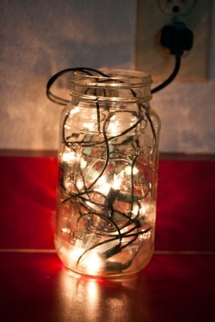 Fill a Mason Jar With Christmas Lights