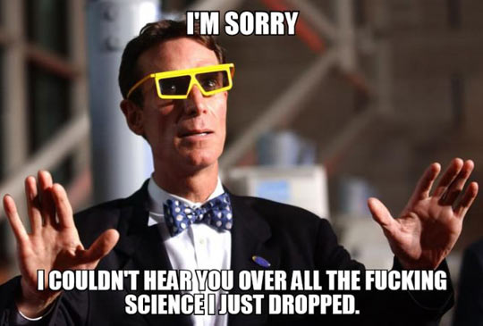 How Bill Nye closes all his argument