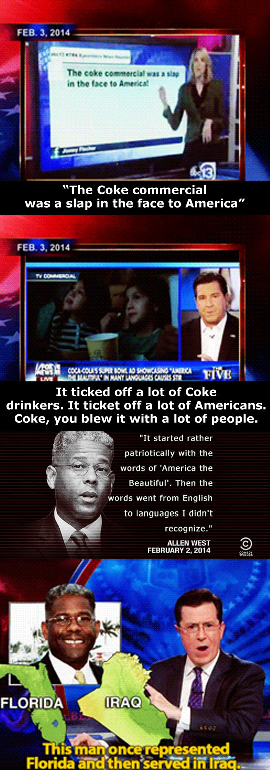 Insane people get angry about the Coke ad