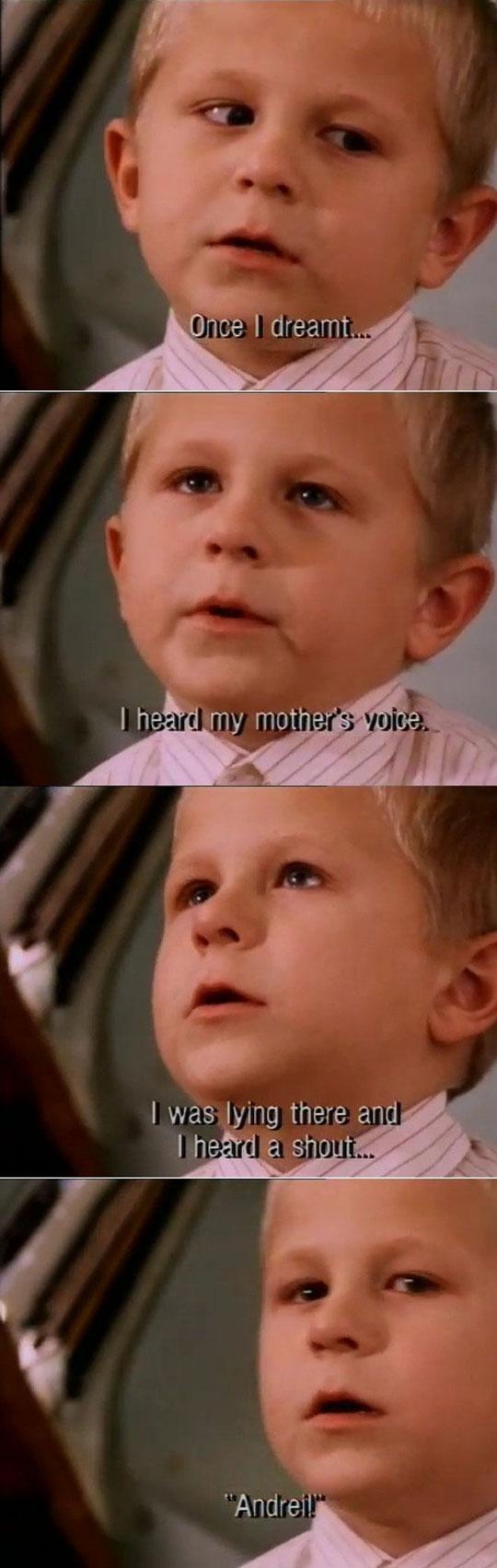 Little boy talking about heaven