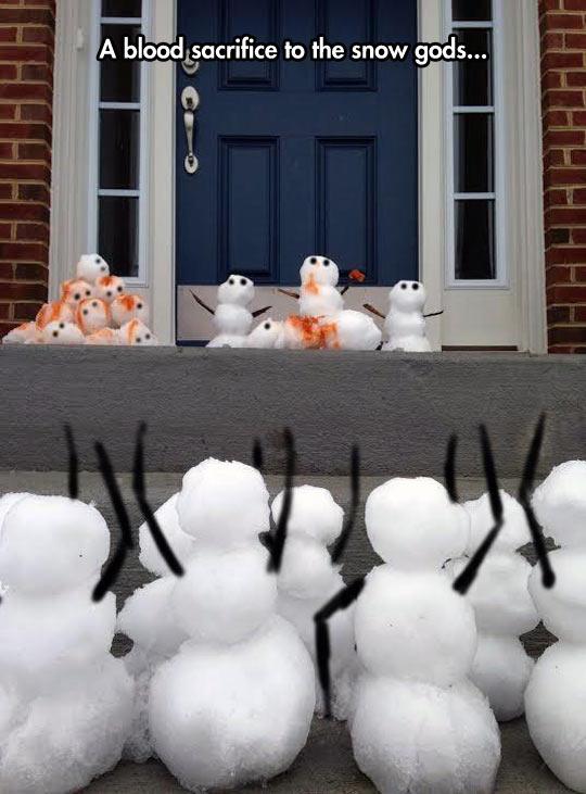 The snow gods request it