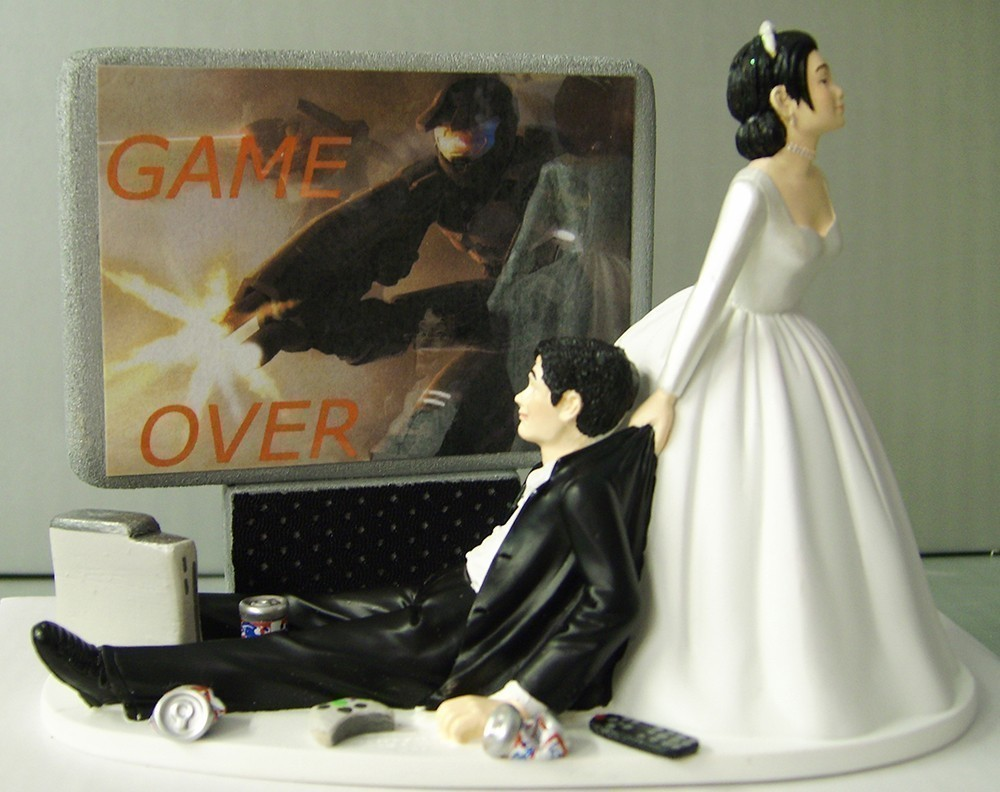 20 wedding cake toppers that are freaking awesome for Funny wedding decorations