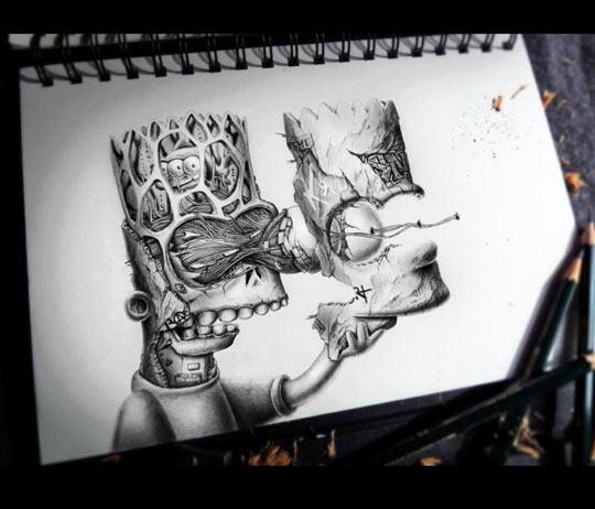 cool-Bart-Simpson-PEZ-hand-drawn-artistic