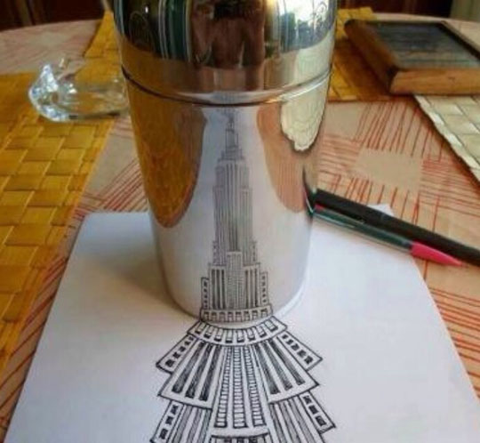 cool-Empire-State-art-paper-drawing